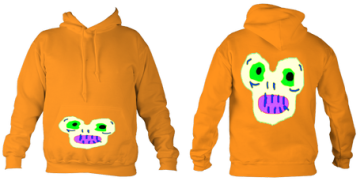 Kid'sMagicMonster College Hoodie (Orange) £32.99 Sizes: 5- 6, 7-8, 9-10, 11-12, 12-14 years old