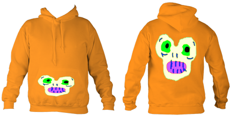 Kid'sMagicMonster College Hoodie (Orange) £32.99 Sizes: 5- 6, 7-8, 9-10, 11-12, 12-14 years old
