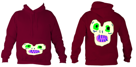Kid'sMagicMonster College Hoodie (Burgundy) £32.99 Sizes: 5- 6, 7-8, 9-10, 11-12, 12-14 years old