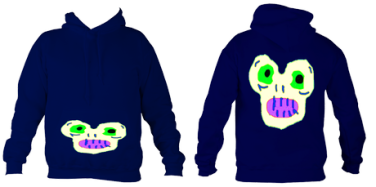 Kid'sMagicMonster College Hoodie (Navy) £32.99 Sizes: 5- 6, 7-8, 9-10, 11-12, 12-14 years old