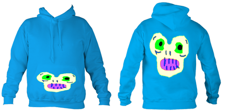 Kid'sMagicMonster College Hoodie (Sapphire Blue) £32.99 Sizes: 5- 6, 7-8, 9-10, 11-12, 12-14 years old