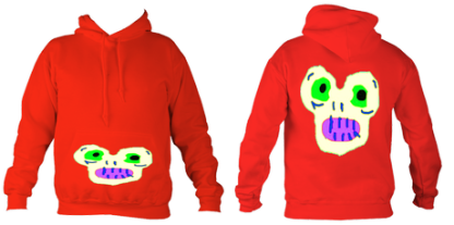 Kid'sMagicMonster College Hoodie (Fire Red) £32.99 Sizes: 5- 6, 7-8, 9-10, 11-12, 12-14 years old