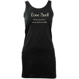 Essential Tank LoveSpellSlogan (Black) £37