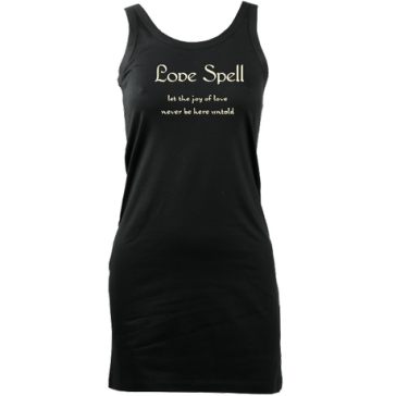 Essential Tank LoveSpellSlogan (Black) £37