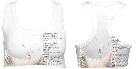LoveSpellPoem Sports Bra (White) £32