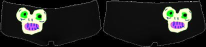 MagicMonster 2HipHugger Shorties (Black) £36