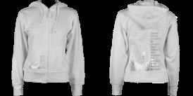 Women's Zip Hoodie Arctic White